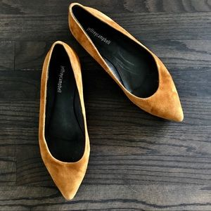 JEFFREY CAMPBELL KIMA POINTED LOW WEDGE FLAT SUEDE